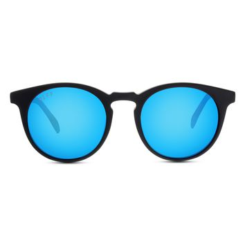 CHARLIE - MATTE BLACK + BLUE MIRROR + POLARIZED