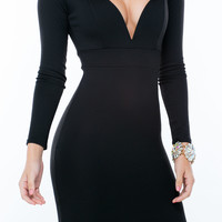 Stolen Heart Plunging Bodycon Dress