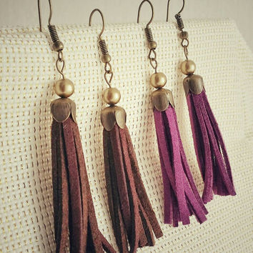 Tassel earrings > Boho earrings > Dangle earrings > gypsy earrings > Bohemian jewelry > Bohemian earrings