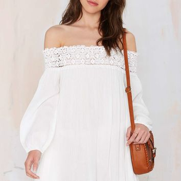 Margaritaville Off-the-Shoulder Dress - White