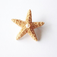 Starfish Pearl Barrette - Small - Natural - Beach Boho Cute Adorable Elegant Romantic Whimsical Whimsy Dreamy Sea Star - Mermaid Collection