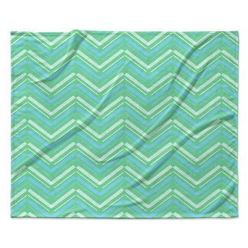 "CarolLynn Tice ""Symetrical"" Teal Turquoise Fleece Throw Blanket"
