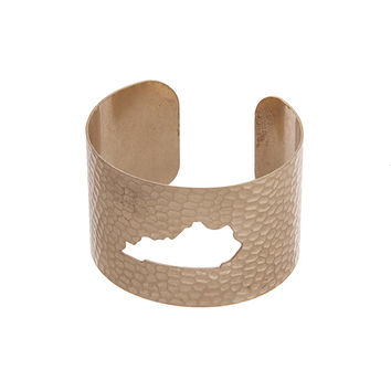 Kentucky State Cuff Bracelet in Gold