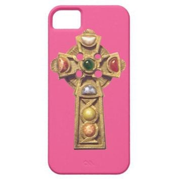 Jeweled Celtic Christian iPhone 5 Case Pink from Zazzle.com