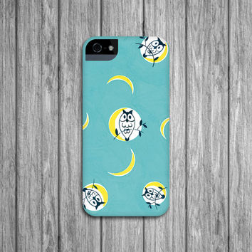 Owl iPhone Case, Retro iPhone 4, Turquoise Galaxy S3, S4, iPhone 5S, iPhone 5C Case