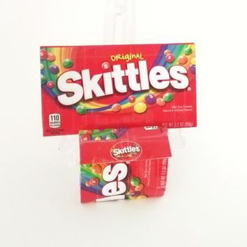 Cute Women's Wallet Coin Pouch, Fun Skittles Candy Box Womens Gift Set