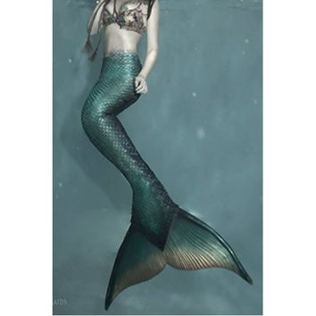 Silicone Mermaid Tail Realistic Monofin For Swimming