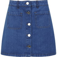 Mid Wash Denim Skirt
