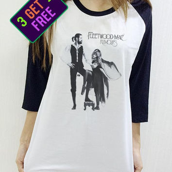 Fleetwood Mac Shirt Rumours Unisex Baseball Shirt Men Women Funny 3/4 Raglan Long Sleeve