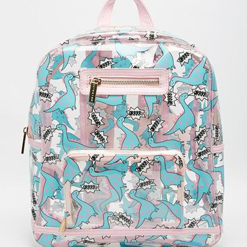 Skinnydip Dinosaur Clear Backpack