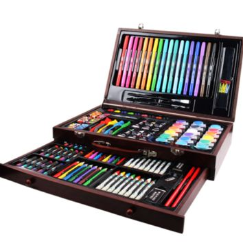 Painting Drawing Pencils Kids Stationery Set Box 123 Pcs