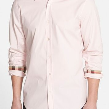 Men's Burberry Brit 'Henry' Trim Fit Stretch Cotton Sport Shirt