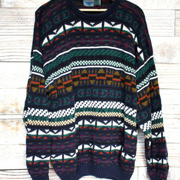 Aztec Pattern Vintage Knit Sweater