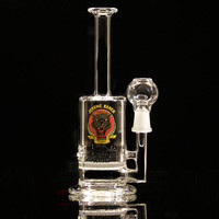 """7.5"""" Dab Rig with Honeycomb Disk"""