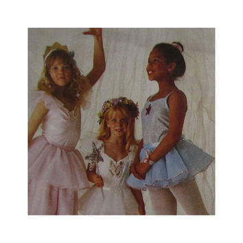 Girl's Costume Pattern Size Medium 6-8 McCalls 3886 Fairy Princess Ballerina Fortune Teller Harem Girl Vintage 1980s