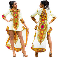 White African Dashiki Asymmetric Dress