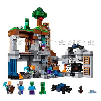 640+ Pcs Bricks The Bedrock Adventures Set Compatible Legoing Minecrafted 21146 Model Building Blocks Boy Birthday Gifts Toys