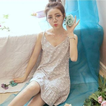 DCCKU62 Cotton 100% Women Sleepwear Plus size Princess Nightgown Summer Homewear 2017 Housewear