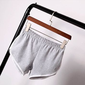 Summer Fashion Women Casual Shorts Workout Cotton Casual Waistband Skinny Shorts
