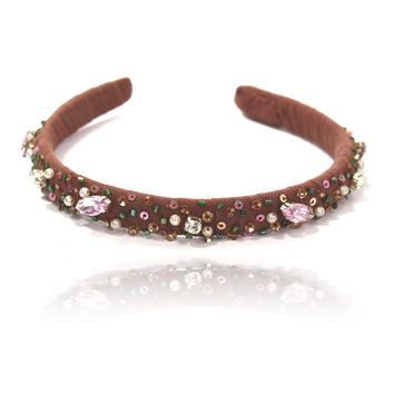 DOLLY by Le Petit Tom ® FAWN BAMBI hair band brown