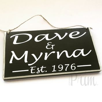 10x6 Custom Name Love Date Wood Sign