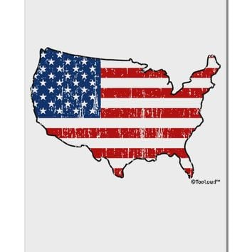 """United States Cutout - American Flag Distressed Aluminum 8 x 12"""" Sign by TooLoud"""