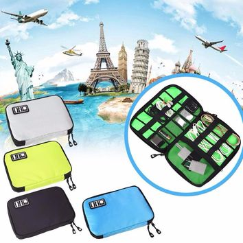 MVPower Portable Digital Accessories Data Line USB Cable Earphone Storage Bags Holder Collection Kit With Zipper
