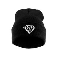 New Hip-Hop Men's Men Women Unisex cap With Diamond Pattern Beanies Winter Cotton knit wool Hats
