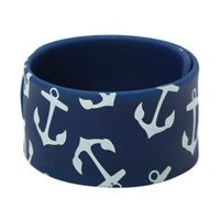 Anchor Rubber Slap Bracelet