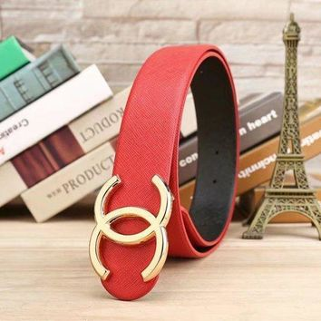 One-nice™ CHANEL Woman Fashion Smooth Buckle Belt Leather Belt