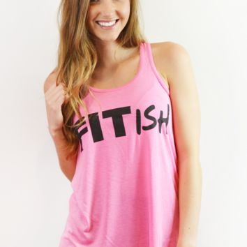 hey y'all fitish tank-pink