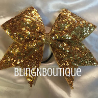 Gold Treasure - Gold Sequin Cheer Bow