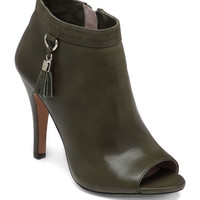 Vince Camuto Nappa Leather & Suede Peep Toe Booties