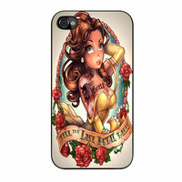 Princess Belle Disney And Tattoo iPhone 4s Case