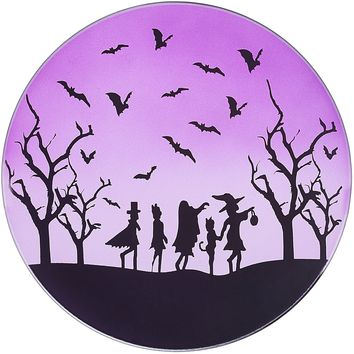 Trick or Treat Glass Candle Tray