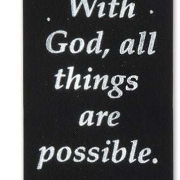 With God, All Things Are Possible Ribbon Case Pack 36