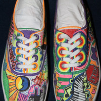 Custom Made Sharpie Shoes by FarrahsFlair on Etsy