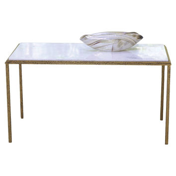 Hammered Gold Rectangular Cocktail Table