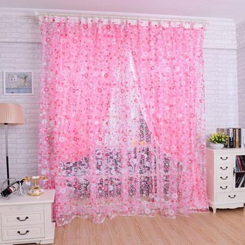 Solid color string curtain 1 m*2m decoration partition Simple elegant romantic door curtains for living room,free