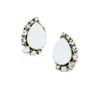 Darling Diamond Studs in Ivory
