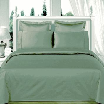 Sage-Green Solid Down Alternative 4-pc Comforter Set 100% Egyptian cotton 550 Thread count