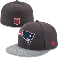 Mens New Era Graphite New England Patriots 2014 NFL Draft 59FIFTY Fitted Hat