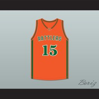 DeMarcus Cousins 15 LeFlore High School Rattlers Orange Basketball Jersey