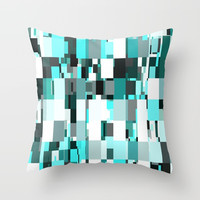 Blue Dazzle Throw Pillow by kasseggs