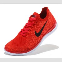 Tagre™ NIKE casual lightweight knitted running shoes Red and black