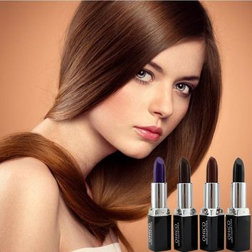 Free Shipping Temporary Hair Dye Hair Lipstick Chalk Crayons Paint One-off Hair Color Unisex DIY Styling For Hair Care #712