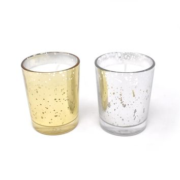 Unscented Poured Glass Votive Candles, 2-1/2-Inch, 12-Count