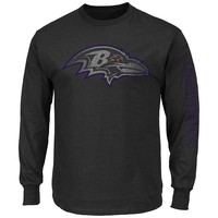 Majestic Baltimore Ravens Up and Over Tee