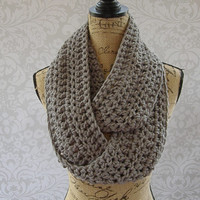 Ready To Ship Infinity Scarf Grey Gray Fall Winter Women's Accessory Infinity