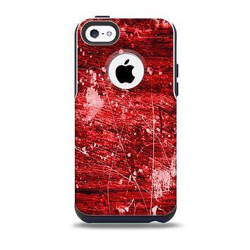The Red Grunge Paint Splatter Skin for the iPhone 5c OtterBox Commuter Case